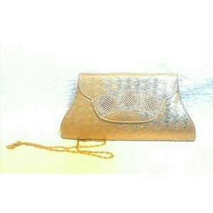 Handbags - Gold Clutch Purse